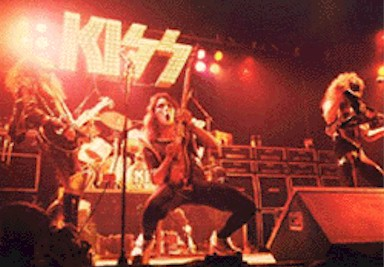 KISS live photo from 1975