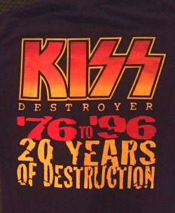 Destroyer shirt back