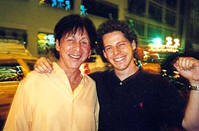 With Peter Criss, 6/5/02